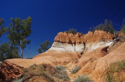 Bei Red Cliffs nehmen wir vorläufig Abschied vom Murray River.