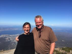 Vom Hausberg Hobarts, dem Mt. Wellington hat man einen wunderbaren Blick auf die tasmanische Hauptstadt