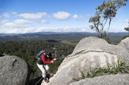 Der Aufstieg zum Cathedral Rock ist nicht ganz einfach ...