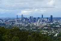 Vom Hausberg Brisbanes, dem Mt. Coot-tha hat man einen schönen Blick auf die Skyline der Großstadt.