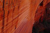 Die Nordwand des Kings Canyon leuchtet in beeindruckenden Farben.