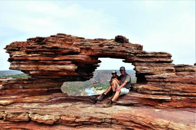 Blick durch Nature's Window im Kalbarri Nationalpark.