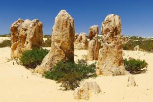 Die Kalksteinsäulen im Nambung Nationalpark schützen zwar vor Sturm...