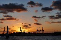 S003 Abendstimmung im Hafen von Melbourne