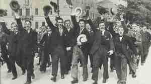 Kriegsbegeisterung in Berlin 1914