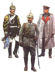 Stabs-Trompeter-Major der Leibgendarmerie des Kaisers * der Kaiser (beide Tarnopol, Juli 1917) * Generalfeldmarschall von Hindenburg (Noyon, Juni 1918)