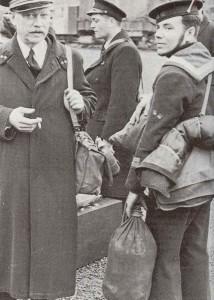 Belgische Matrosen im Jahr 1940
