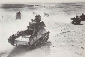 Übung mit leichten Vickers Mark IIA