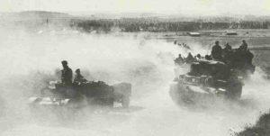 Britische Panzerdivision im Somme-Tal