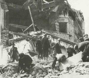 Vorstadt von Warschau hinter Frontlinie 1939