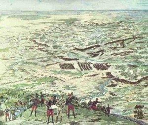 Panoramagemälde der Schlacht an der Marne