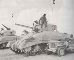 Britischer Sherman II bei El Alamein
