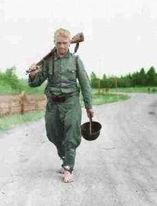 Finnischer Soldat nach Kriegsende