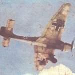 Junkers Ju 87 Stuka aus einem Farbfilm