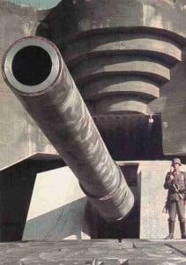 Schweres 40,6cm SKC/34 Geschütz bei Calais