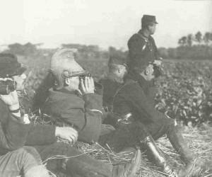 Französische Offiziere an der Aisne