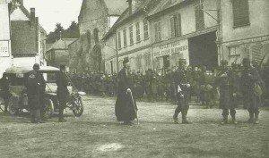 Kolonne französischer Soldaten Marne-Schlacht