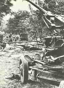 Polnische 40-mm-Flak an der Bzura