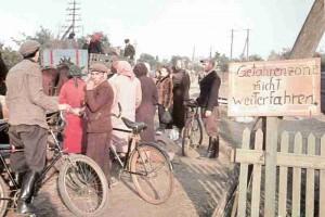 Polnische Flüchtlinge bei Warschau
