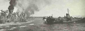 US-Landungsschiff nähert sich Leyte