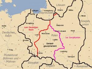 die Aufteilung Polens 1939