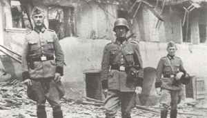 Soldaten in Lidice
