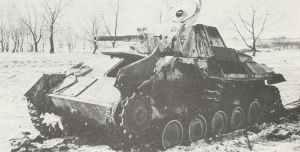 T-70 durch Mine außer Gefecht gesetzt
