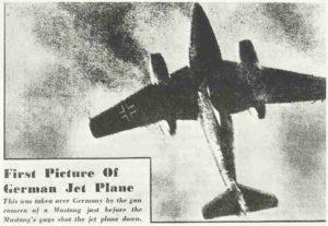 Erstes alliiertes Foto der Me 262