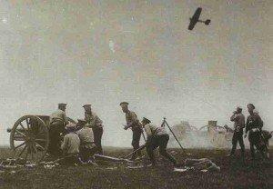 Russische 76,2-mm M1902-Feldgeschütze 1914
