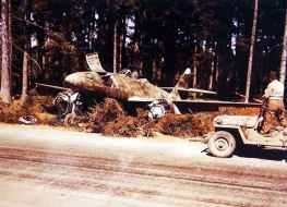 Verlassener Me 262 A-2a Sturmvogel Jagdbomber