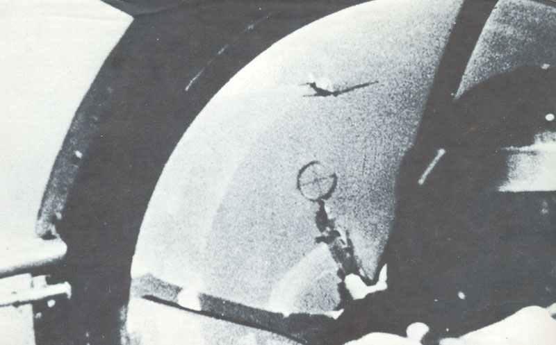 Blick vom Bugschützen einer He 111