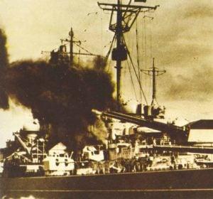 Schlachtschiff Tirpitz beschießt Spitzbergen