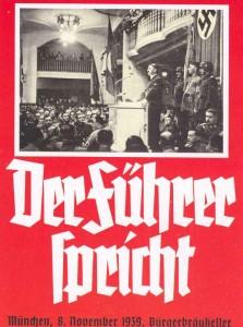 Plakat Füherer-Rede Bürgerbräu-Keller 8.11.1939