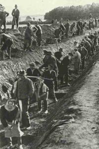Aushebung von Panzergräben an den Reichsgrenzen