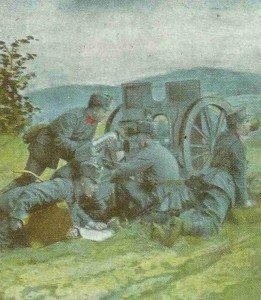 österreich-ungarische Artilleristen