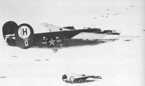 B-24H Liberator auf dem Weg nach Deutschland
