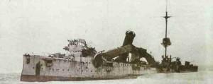 Leichter Kreuzer Emden zerstört