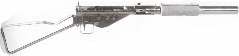 Sten Mk 2 MP mit Schalldämpfer