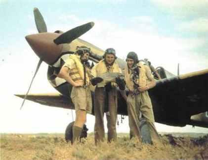 Englische P-40 Warhawk Piloten