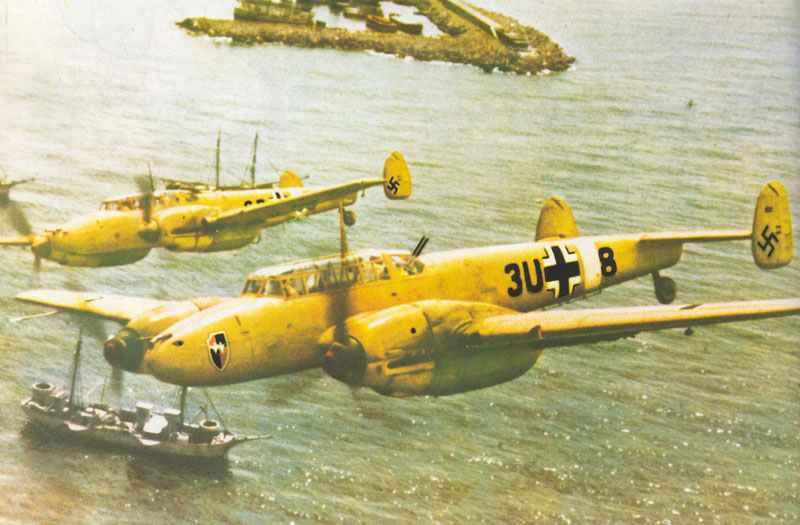 Zwei Bf 110 D-1 vom ZG26