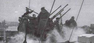Vierlingsflak des Kreuzers 'Prinz Eugen'