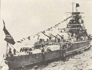 Admiral Graf Spee läuft in Montevideo ein