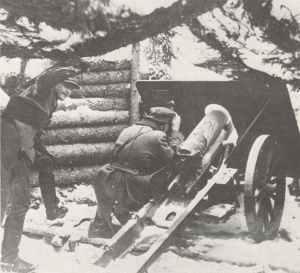 finnische 75-mm-Gebirgskanone
