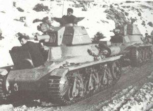 Hotchkiss H-35 Panzer bei der SS-Division Prinz Eugen