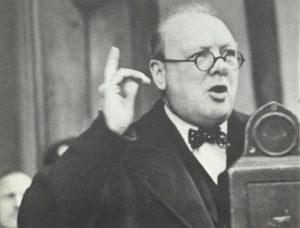 Churchills Rede über Rüstung