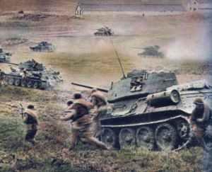 Angriff von T-34 Panzern bei Odessa