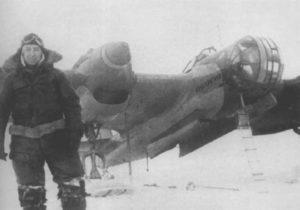 Russischer Pilot SB-2 Bomber Winterkrieg