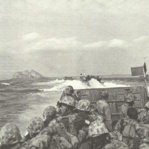 Landungsboote vor Iwo Jima