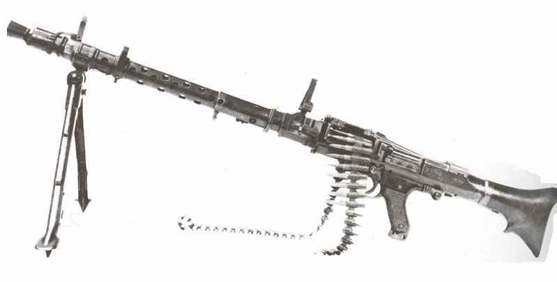 MG 34 auf Zweibein