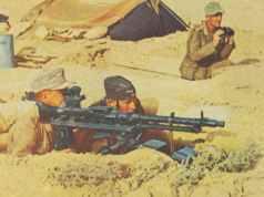 Vorgeschobener Gefechtsposten mit MG 34